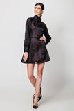 A-line Black Mini Party Dress - Dresses