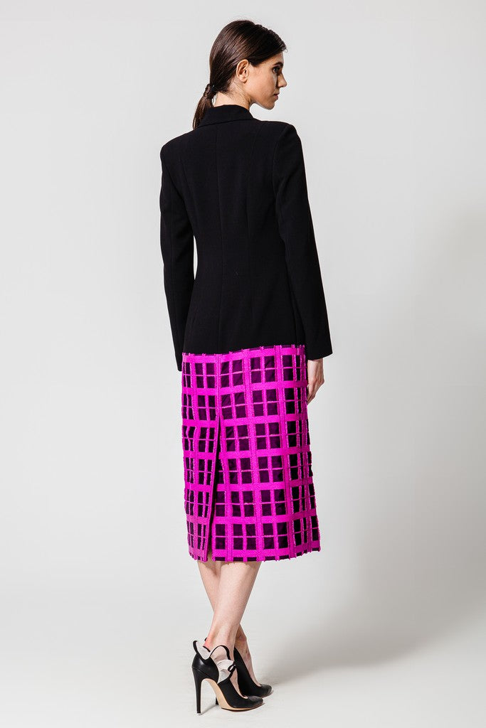Black & Fuchsia Jacket Dress - Dresses