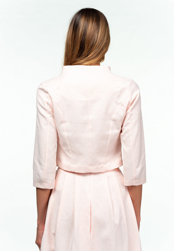 Office Braceletsleeved Light Pink Zhakkard Cotton Jacket