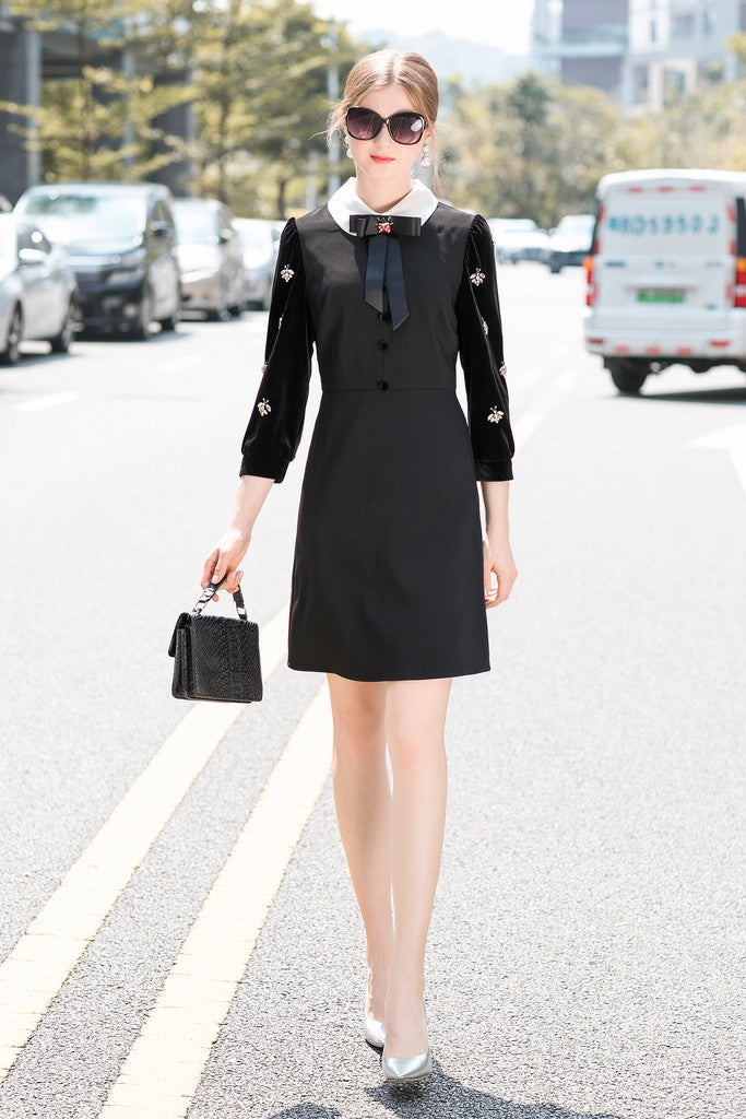 Black Office Dress - Dresses