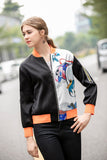 Black & White & Orange Day Jacket - Jackets
