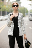Black & Milky Office Set (Blazer & Pants)