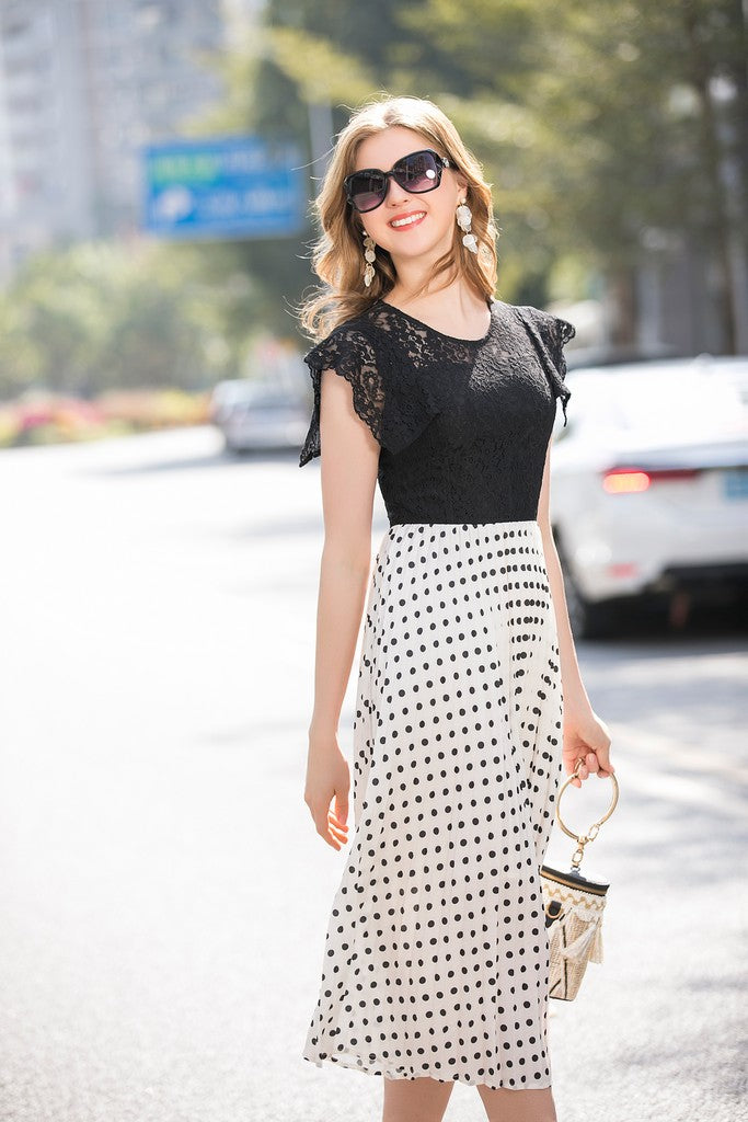 Black & White Day Dress - Dresses