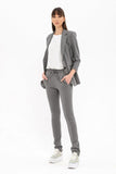 Gray Elegant Day Skinny Pants - Pants