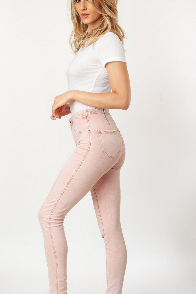 Pink Skinny Casual Jeans - Jeans