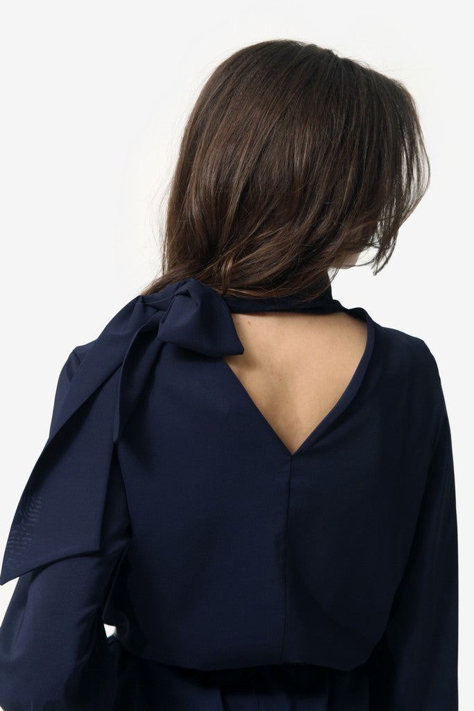Navy Blouse - Blouses