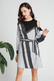 White & Black Day Dress - Dresses