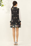 Black & White & Multicolor floral print Dress - Dresses