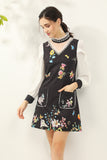 Black & White & Multicolor floral print Dress