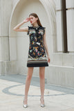 Black & Multicolor print Dress - Dresses