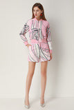 Pink & White Print Day Set (Blouse & Shorts) - Suits