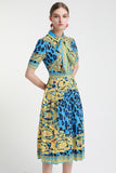 Blue Multicolor Dress - Dresses