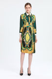 Green & Yellow Day Dress - Dresses