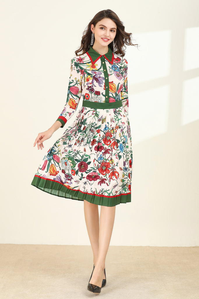 Multicolor Day Dress - Dresses
