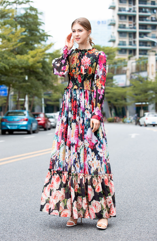 Multicolor Printed Day Dress