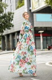 Light blue & Multicolor floral print Dress - Dresses