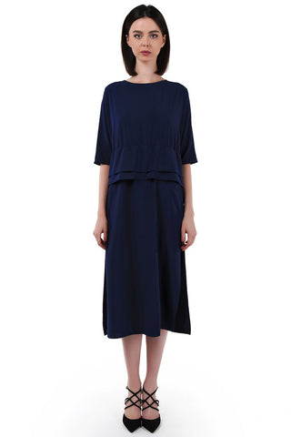 Navy Day Ruffled Dress
