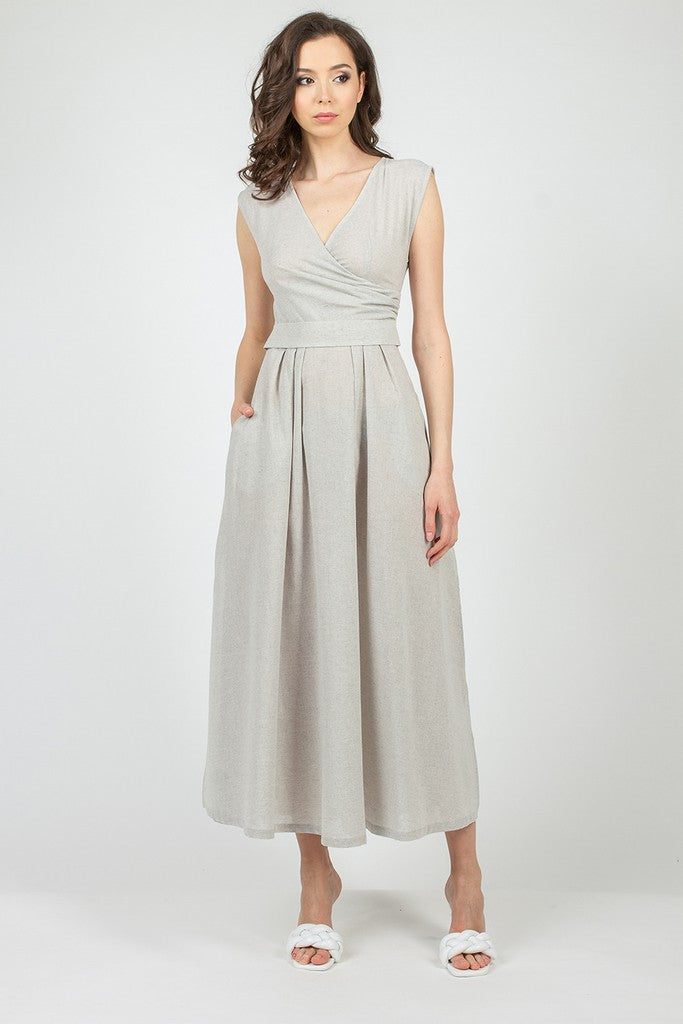 Gray Summer Office Сocktail Dress - Dresses