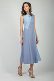Blue Summer Evening Сocktail Dress - Dresses