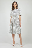 Milky & Blue Summer Office Day Dress - Dresses