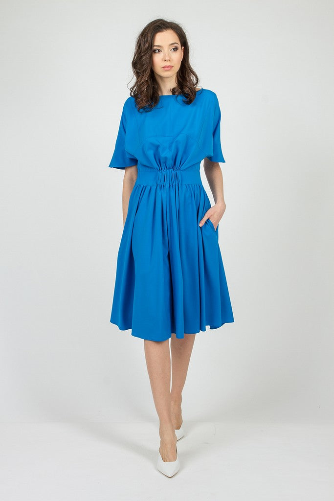 Blue Summer Office Day Dress