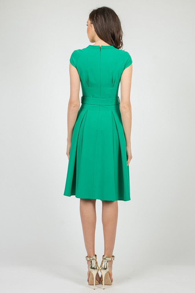 Green Summer Office Day Dress - Dresses