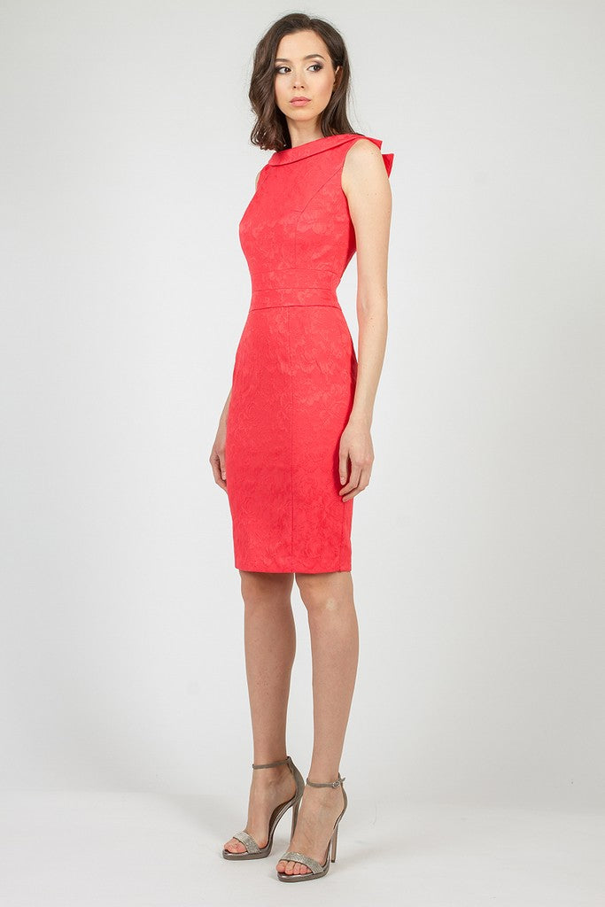 Coral Summer Evening Сocktail DressDress - Dresses