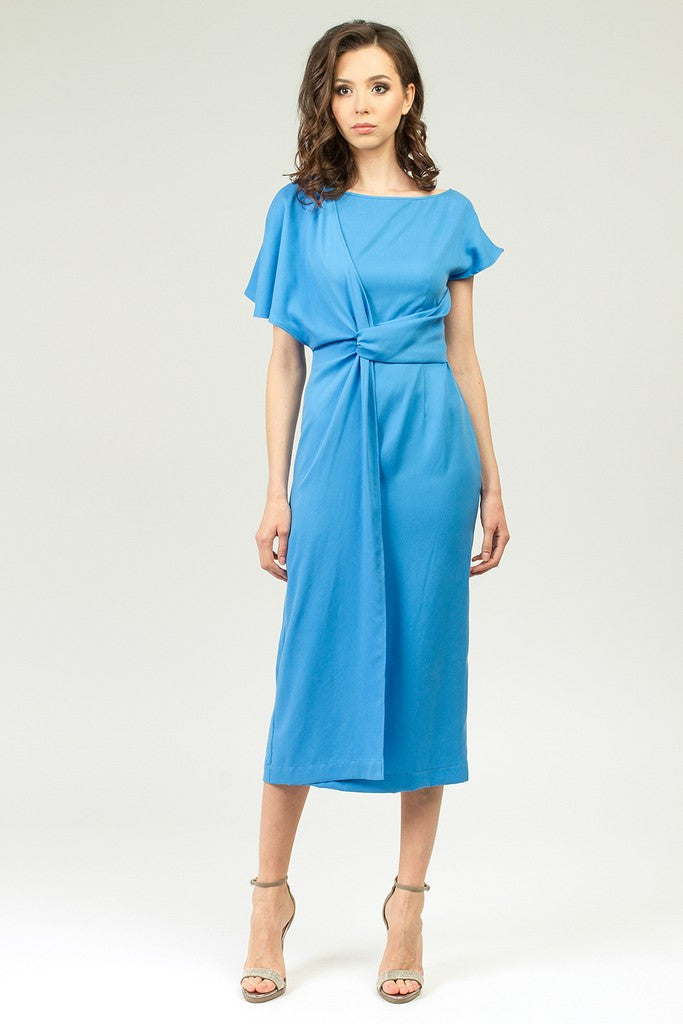 Blue Summer Office Dress - Dresses