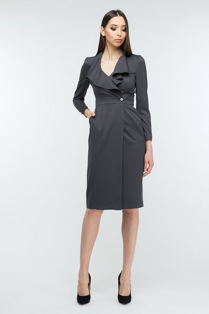 Flounce Office Dress - Dresses