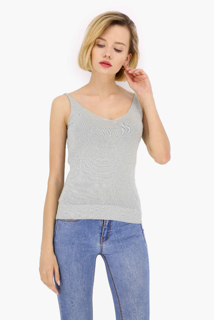 Casual Sleeveless Top - Tops