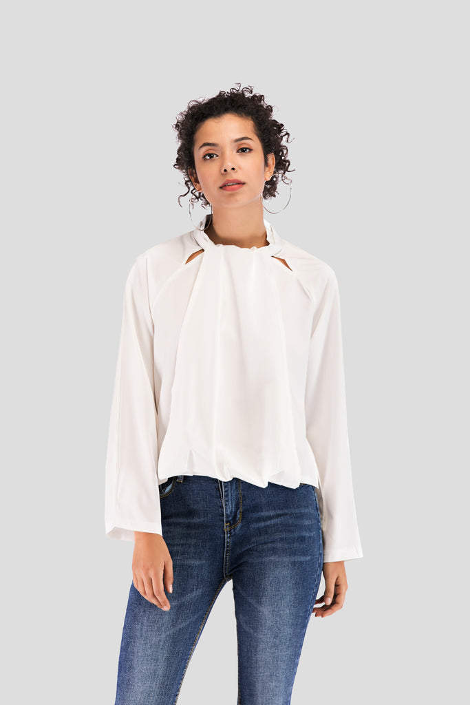 Day Longsleeved Cotton Blouse - Blouses