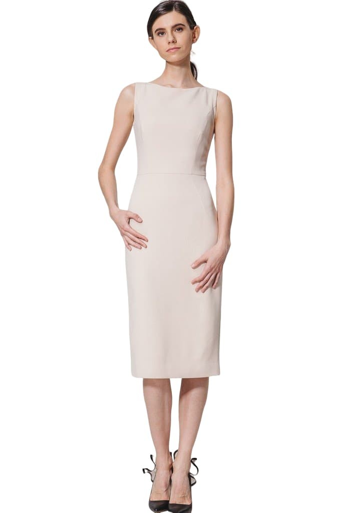 Nude Sleeveless Dress - Dresses