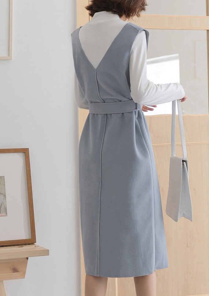 Casual Dress with Belt - Dresses