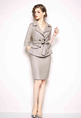 Office Two Piece Printed Suit (Jacket & Pants)