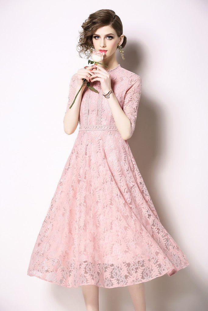 Pink Evening Dress - Dresses