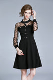 Black Evening Dress - Dresses