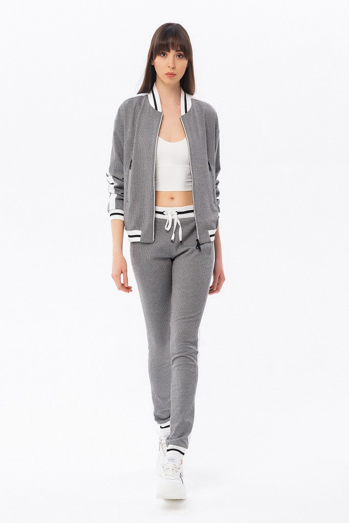 Gray Spot Day Set (Long Sleeve Jacket & Pants) - Suits