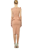 Office Summer Beige Set (Blouse and skirt) - Suits