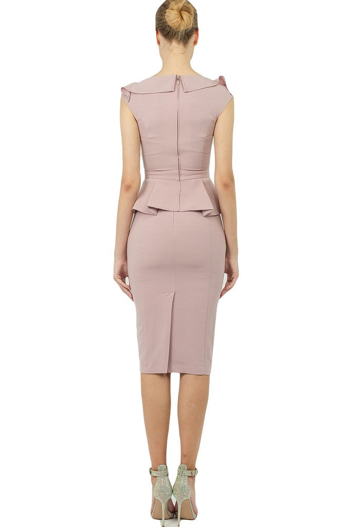 Office Summer Pink Set (Blouse and skirt) - Suits