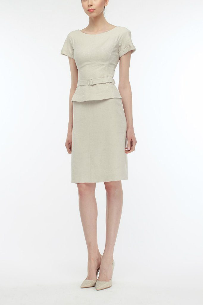 Office Suit (Short Sleeve Blouse and Pencil Skirt) - Suits