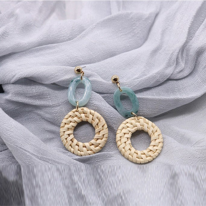 Rattan Earrings - Earrings