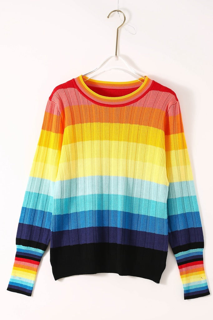Multicolor Striped Sweater - Sweaters