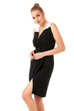 Black Above Knee Dress - Dresses