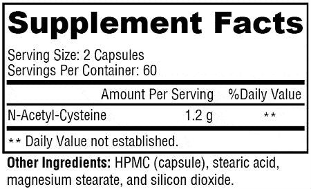 N-Acetyl Cysteine (NAC) for Immunity and Antioxidant Support