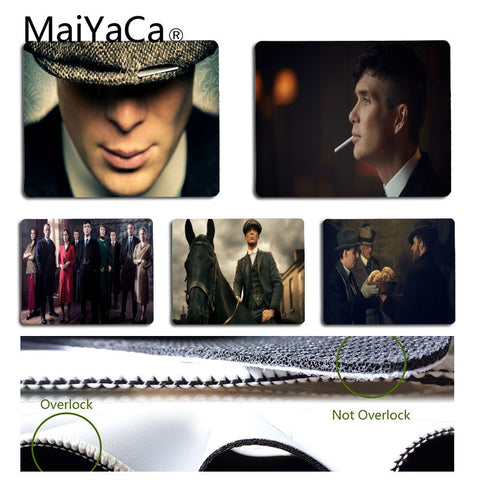 MaiYaCa Beautiful Anime Peaky Blinders Mouse Pad for Laptop Unique Desktop Pad Game Mousepad - one46.com.au