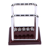 Early Fun Development Educational Desk Toy Gift Newtons Cradle Steel Balance Ball Physics Science Pendulum - one46.com.au
