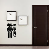 Video Game Gaming Gamer Joystick Wall Stickers Removable Children Room Game Room Wall  Art Decor Sticker - one46.com.au