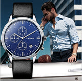 SINOBI Fashion Sports Wrist Watches Multifunction Chronograph Watch Men Luxury Brand Auto Date Quartz Watch relogio masculino - one46.com.au