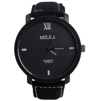 MILER Luxury Brand Watch Leather Band Quartz Watch Casual Sport Watches Men Fashion Military Wrist watch Hour relogio masculino - one46.com.au