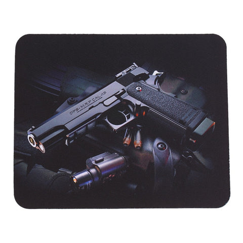 Gun Picture Anti-Slip Lap PC Mice Pad Mat Mousepad For Optical Laser Mouse Wholesale - one46.com.au